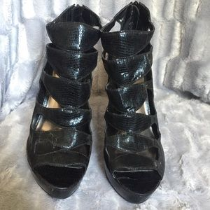 Black Spiked Heel Shoes